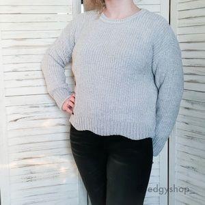 89th & Madison | Scalloped Hem Chenille Sweater